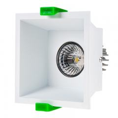LED Recessed Light Engine w/ Square 90mm White Reflector - 60 Watt Equivalent