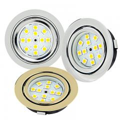 Recessed LED Puck Lights - 12 LED - 20 Watt Equivalent - 170 Lumens