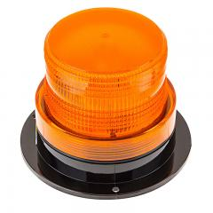 "3-3/4"" Amber LED Strobe Light Beacon - Double Flash Pattern"