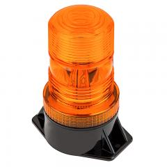 "5-1/4"" Amber LED Strobe Light Beacon - Double Flash Pattern"