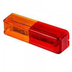 Rectangular LED Truck and Trailer Light - LED Side Clearance Light - 2-Pin Connector - Surface/Fender Mount - 10 LEDs