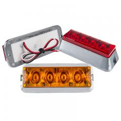 Vehicle Strobe Light w/ Built-In Controller - 4 Watt - Surface Mount