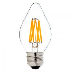 F15 LED Filament Bulb - 40 Watt Equivalent LED Chandelier Bulb w/ Blunt Tip - Dimmable - 365 Lumens