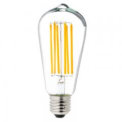 ST18 LED Filament Bulb - 40 Watt Equivalent Vintage Light Bulb - Dimmable - 537 Lumens