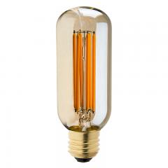 T14 LED Filament Bulb - 40 Watt Equivalent Vintage Light Bulb w/ Gold Tint - Radio Style - Dimmable - 435 Lumens