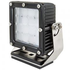 "Heavy-Duty LED Work Light w/ Extreme Vibration Resistant Mount - 5.5"" Square - 55W - 5,600 Lumens"