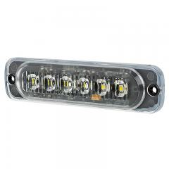 Low Profile Vehicle LED Mini Strobe Light Head - Built-In Controller - 18 Watt - Surface Mount