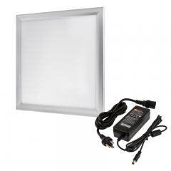12V LED Panel Light High Voltage Kit - 1x1 - 2,500 Lumens - 35W Even-Glow® Light Fixture - Surface Mount