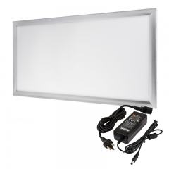 12V LED Panel Light High Voltage Kit - 1x2 - 3,000 Lumens - 40W Even-Glow® Light Fixture - Surface Mount