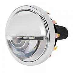 "1-1/2"" Round LED License Plate Light - Chrome Housing - Pigtail Connection"