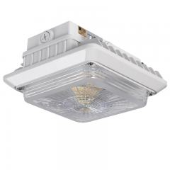 LED Canopy Lights - Dimmable - 5000K - Surface Mount or Conduit Install - 55W (175W MH Equivalent) - 6,600 Lumens