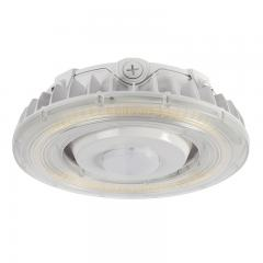 100W LED Parking Garage Round Canopy Light with Integrated Motion Sensor - 12500 Lumens - 320W MH Equivalent - 5000K