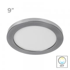 "9"" Selectable White LED Downlight w/ Brushed Nickel Trim - 18W Flush Mount Ceiling Light - 1,440 Lumens - 100 Watt Equivalent - Dimmable"