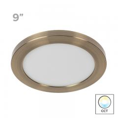 "9"" Selectable White LED Downlight w/ Bronze Trim - 18W Flush Mount Ceiling Light - 1,440 Lumens - 100 Watt Equivalent - Dimmable"