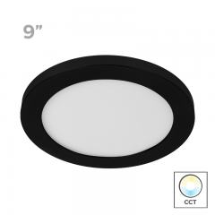 "9"" Selectable White LED Downlight w/ Black Trim - 18W Flush Mount Ceiling Light - 1,440 Lumens - 100 Watt Equivalent - Dimmable"