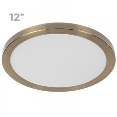 "12"" LED Downlight w/ Bronze Trim - 24W Flush Mount Ceiling Light - 1,920 Lumens - 125 Watt Equivalent - 4000K/3000K - Dimmable"
