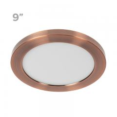 "9"" LED Downlight w/ Rose Gold Trim - 18W Flush Mount Ceiling Light - 1,440 Lumens - 100 Watt Equivalent - 4000K/3000K - Dimmable"