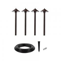 LED Landscape Lighting Expansion Kit - 4 Cone Shade Path Lights