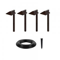 LED Landscape Lighting Expansion Kit - 4 Offset Square Path Lights