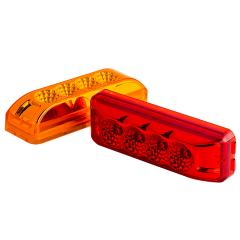 "Rectangular LED Truck and Trailer Lights - 3-3/4"" LED Side Clearance Lights - 2-Pin Connector - Surface Mount - 4 LEDs"