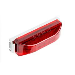 "Rectangular LED Truck and Trailer Lights - 3-3/4"" LED Side Clearance Lights - 2-Pin Connector - Surface Mount - 12 LEDs"