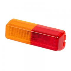 Rectangular LED Truck and Trailer Light - LED Side Clearance Light - 2-Pin Connector - Surface/Fender Mount