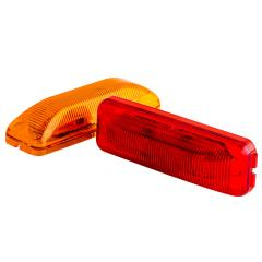 "Rectangular LED Truck and Trailer Lights - 3-3/4"" PC Rated LED Side Clearance Lights - 2-Pin Connector - Surface Mount - 4 LEDs"