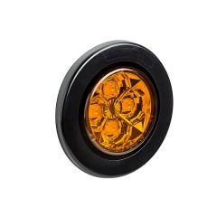 "Round LED Truck and Trailer Lights - 2-1/2"" LED Side Clearance Lights - 2-Pin Connector - Surface Mount - 4 LEDs"