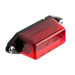 """Rectangular LED Truck and Trailer Lights - 3-1/8"""" LED Side Clearance Lights - Pigtail Connector - Surface Mount - 6 LEDs"""