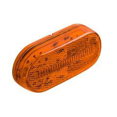 """Oval LED Truck and Trailer Lights - 4"""" LED Side Clearance Lights - Pigtail Connector - Surface Mount - 4 LEDs"""