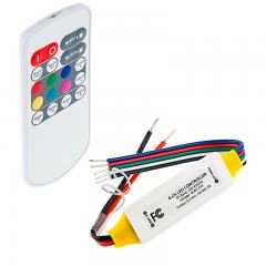 Mini RGBW LED Controller - Wireless RF Remote w/ Dynamic Color-Changing Modes