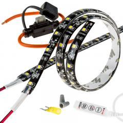 Motorcycle Engine LED Lighting Kit - Single Color 12V LED Tape Light - 132 Lumens/ft.