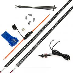 Vehicle LED Strip Light Kit - Weatherproof Single Color Strip Kit - 124 Lumens