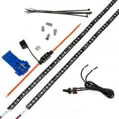 Vehicle LED Strip Light Kit - Weatherproof Single Color Strip Kit - 124 Lumens