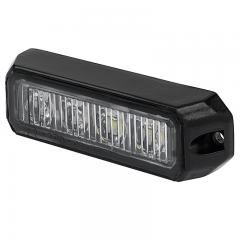 Two-Color Vehicle LED Mini Strobe Light Head - Built-In Controller - 12 Watt - Surface Mount