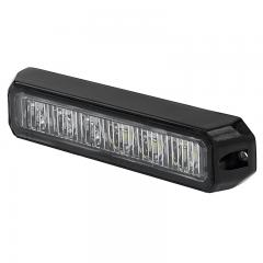 Two-Color Vehicle LED Mini Strobe Light Head - Built-In Controller - 18 Watt - Surface Mount
