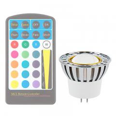 Color-Changing MR16 LED Bulb - 10 Watt Equivalent - 12V AC/DC - RGB LED Spotlight Bulb - 80 Lumens - Remote Sold Separately