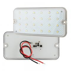 Rectangle LED Dome Lights - LED Interior Trailer Lights - Pigtail Connector - Surface Mount - 480 Lumens