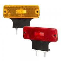 "Rectangular LED Clearance, Identification, or Side Marker Light w/ Flexible Elevation Bracket - 4.5"" LED Truck/Trailer Light - Stud/Fender Mount - 3 LEDs"