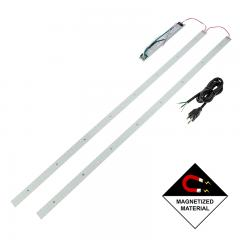 LED Magnetic Strip Kit - Two 4ft pcs and LED Driver - Dimmable - 30W - 5000 Lumens