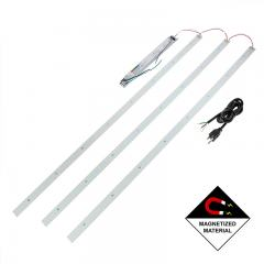 LED Magnetic Strip Kit - Three 4ft pcs and LED Driver - Dimmable - 50W - 8,000 Lumens