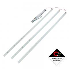 LED Magnetic Strip Troffer Retrofit Kit - 2x4 Troffer - Dimmable - 50W - 8,000 Lumens