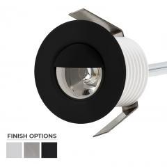 Round Metal with Hood - 1 Watt Mini LED Step Lights - 4000/2800K