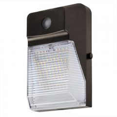 20W LED Mini Wall Pack with Photocell - 2500 Lumens - 70W Metal Halide Equivalent - 5000K/4000K