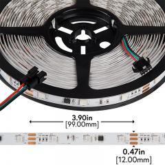 RGB LED Strip Lights - Color Chasing 12V LED Tape Light - 22 Lumens/ft.