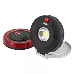 NEBO TWIN PUCKS LED Task Light and LED Safety Flare Combo - 160 Lumens