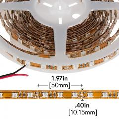 LED Light Strips - Copper Finish LED Tape Light with 18 SMDs/ft., 3 Chip SMD LED 5050