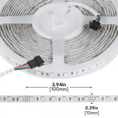 RGB LED Strip Lights - 24V LED Tape Light w/ LC4 Connector - 162 Lumens/ft.