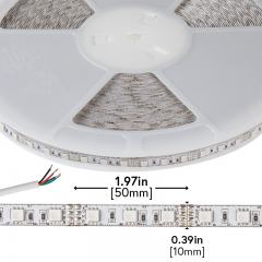 RGB LED Strip Lights - Custom Length 12V LED Tape Light - High Density - 126 Lumens/ft.