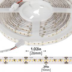 2016 White High-CRI LED Strip Light - LED Tape Light w/ Plug-and-Play LC2 Connectors - 24V - IP20 - 400 lm/ft